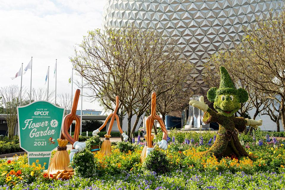 The Taste of EPCOT International Flower & Garden Festival is one of the festivals held in the park every year.