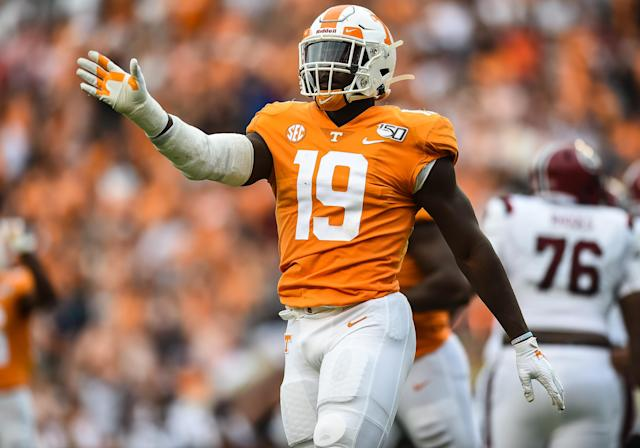 Tennessee EDGE Darrell Taylor didn't have a breakout 2019 season, but he could be a Senior Bowl standout. (Photo by Bryan Lynn/Icon Sportswire via Getty Images)