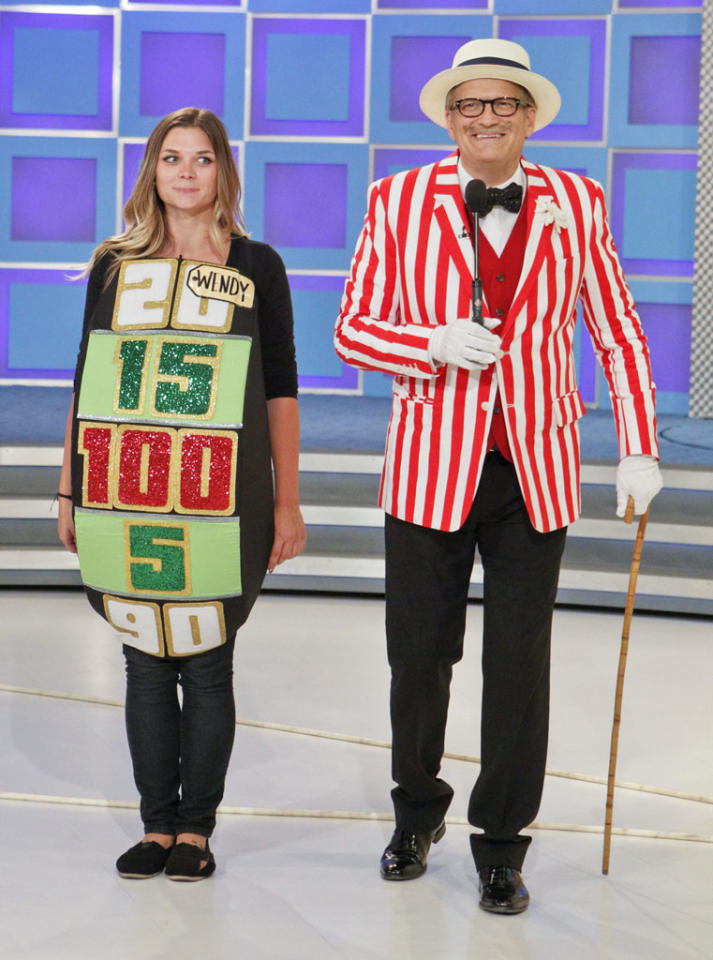 """<b>""""The Price is Right""""</b> -- """"Halloween""""<br> Wednesday, 10/31 at 11 AM on CBS<br><br>A Halloween celebration includes contestants playing in costumes and spooky prizes, such as a ghost tour in New Orleans and a trip to Rio de Janeiro to attend the world's largest carnival. Drew Carey will be dressed as announcer George Gray and the show's models will all be dressed for a Carnival theme"""