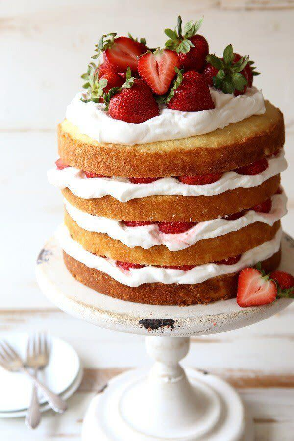 "<a href=""https://www.completelydelicious.com/strawberry-shortcake-layer-cake/"" rel=""nofollow noopener"" target=""_blank"" data-ylk=""slk:Strawberry Shortcake Layer Cake from Completely Delicious"" class=""link rapid-noclick-resp""><strong>Strawberry Shortcake Layer Cake from Completely Delicious</strong></a>"