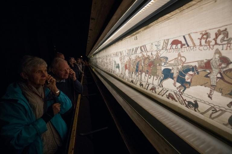 The Bayeux Tapestry depicts the events leading up to the Norman Conquest, a pivotal event in English history that transformed the country's language, culture and administration