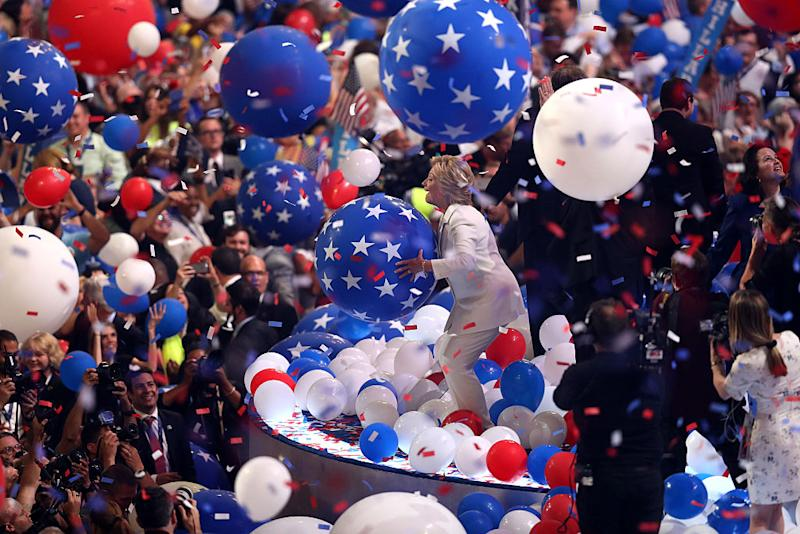 DNC hillary clinton balloon