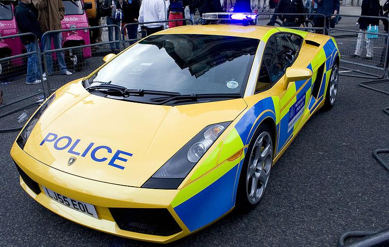 This Lamborghini is one among the Police vehicles in the United Kingdom