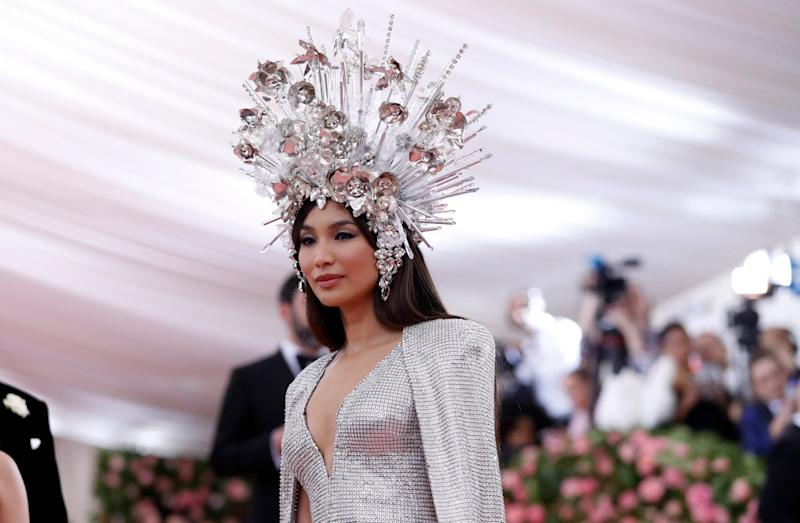 The late Elizabeth Taylor was the inspiration behind Gemma Chan's headpiece(Reuters)