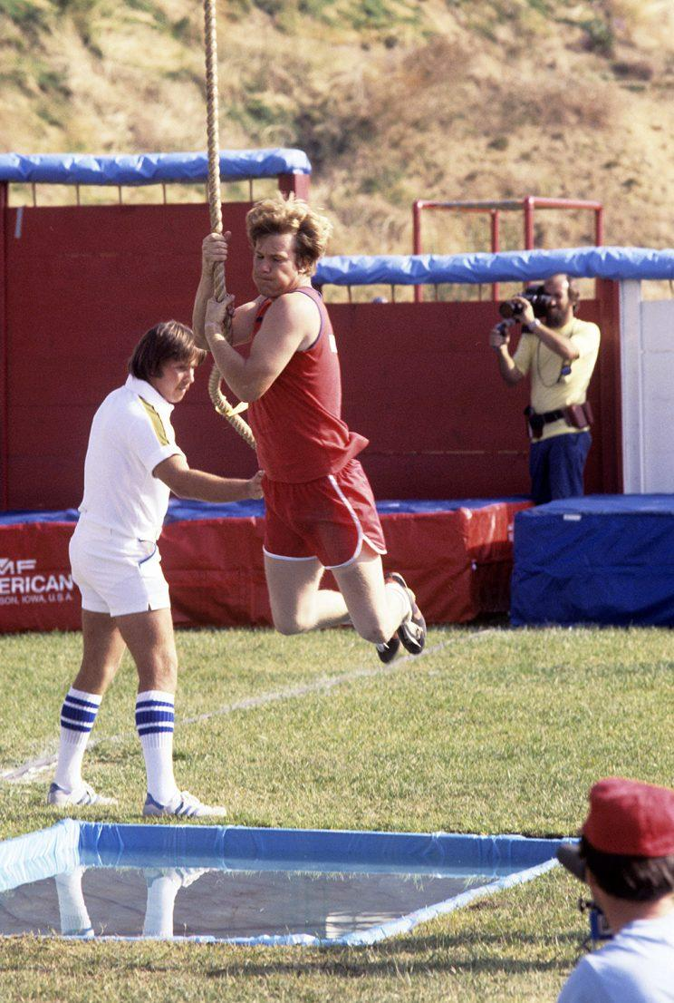Larry Wilcox on ABC's Battle of the Network Stars. (Photo Credit: ABC Photo Archives/Getty Images)