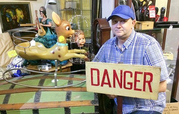 Daniel says it's not the first paranormal occurrence in his shop. Photo: Caters