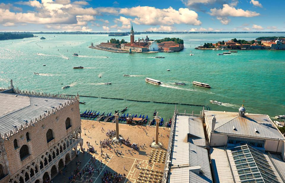 St Mark's Square in Venice is a hit with tourists thanks to its iconic setting and panoramic views. (Rex)