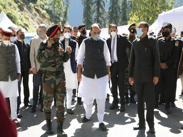 Defence Minister Rajnath Singh in Himachal Pradesh