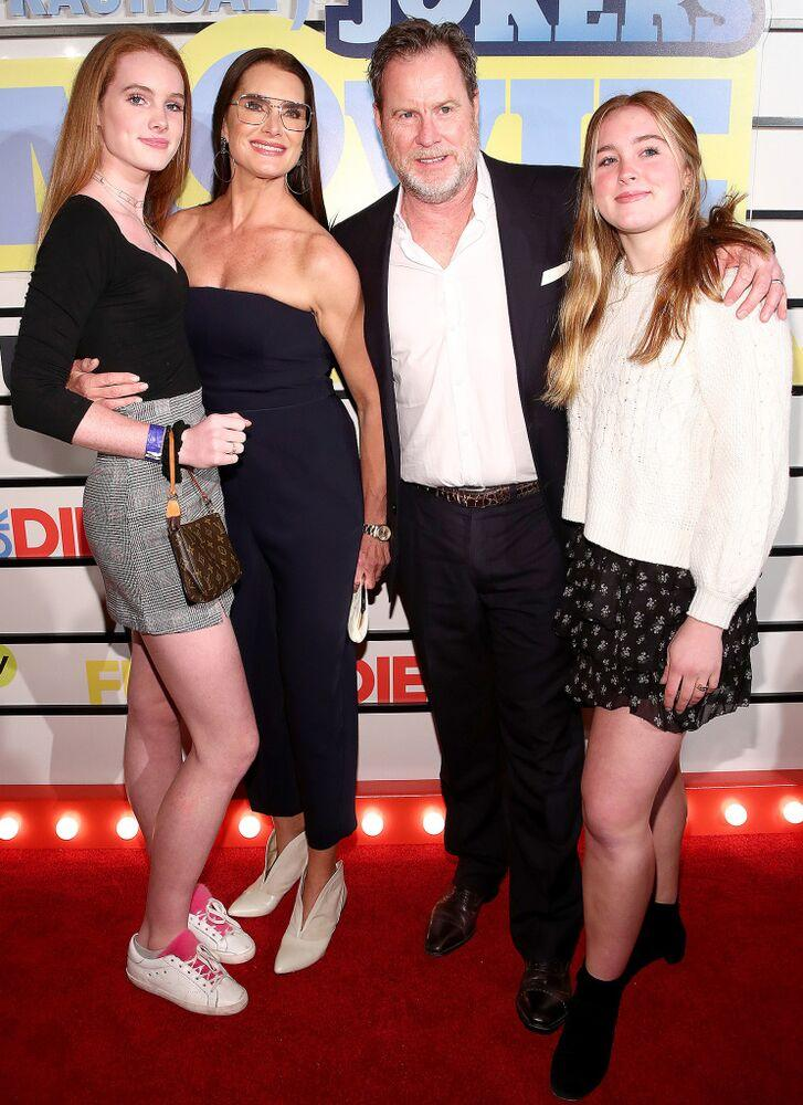 Grier Henchy, Brooke Shields, Chris Henchy and Rowan Henchy   Cindy Ord/WireImage