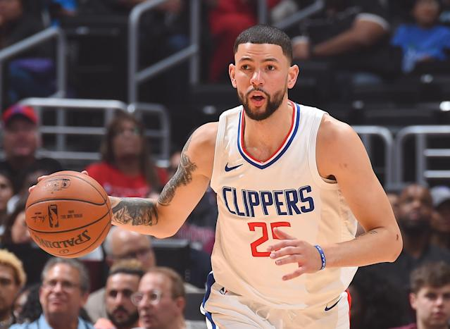 "<a class=""link rapid-noclick-resp"" href=""/nba/players/5016/"" data-ylk=""slk:Austin Rivers"">Austin Rivers</a> is averaging career highs of 15.8 points and 3.6 assists. (Getty Images)"