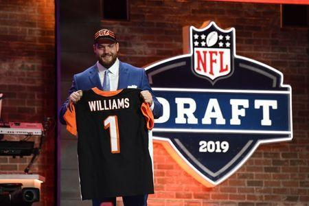 Apr 25, 2019; Nashville, TN, USA; Jonah Williams (Alabama) is selected as the number eleven overall pick to the Cincinnati Bengals during the 2019 NFL Draft in Downtown Nashville. Mandatory Credit: Kirby Lee-USA TODAY Sports
