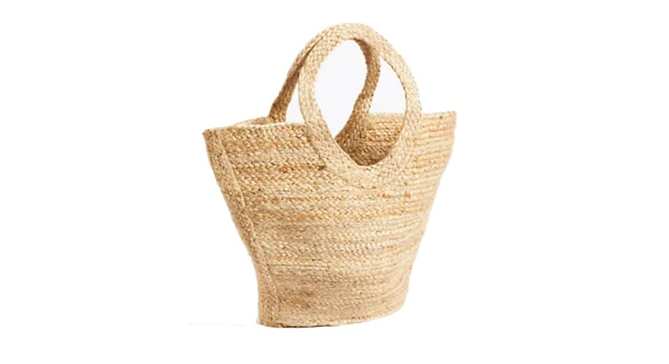 JAEGER Straw Woven Tote Bag
