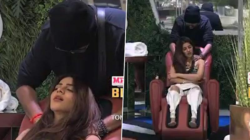 Bigg Boss 14 Preview: Nikki Tamboli Enjoys The Perks Of Being A Senior; Jaan Kumar Sanu Becomes Her Personal Masseur (Watch Video)