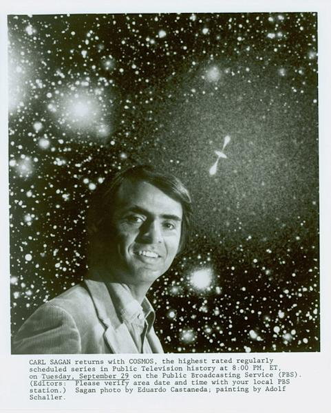 A portrait of Carl Sagan included in the archive housed by the Library of Congress.