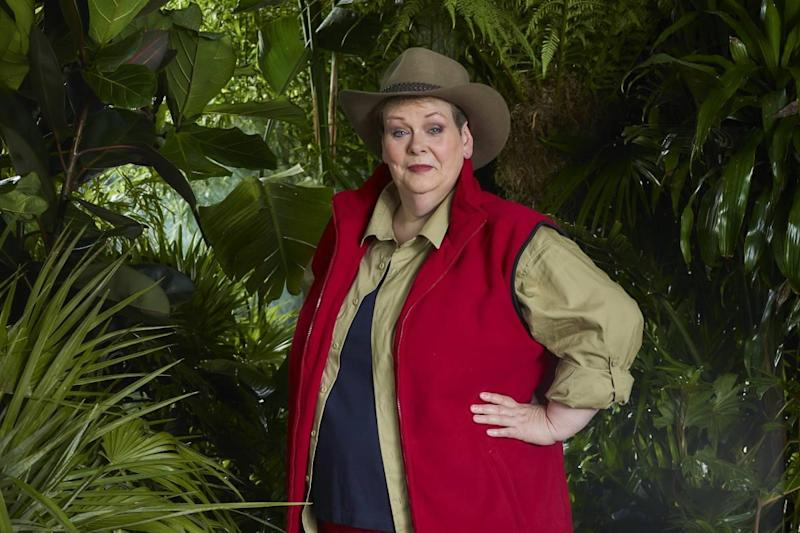 Anne Hegerty in 'I'm A Celbrity': ITV