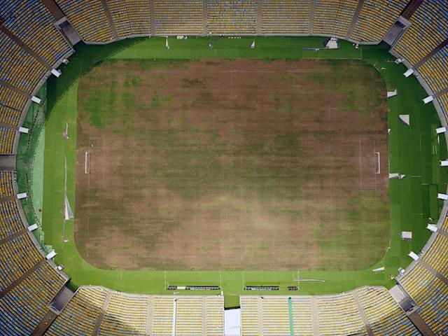 <p>An aerial shot of the ground – which is almost unplayable (Vanderlei Almeida) </p>