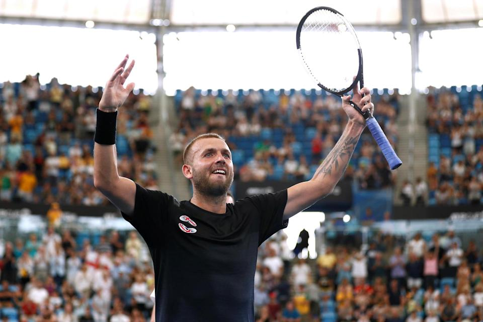 Rising: Dan Evans has secured his first Grand Slam seeding at the Australian Open Photo: Reuters