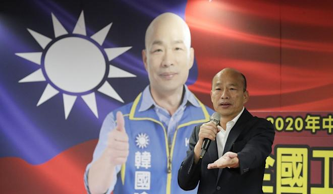 Han Kuo-yu's plain-speaking style was seen as a plus by his supporters. Photo: EPA-EFE