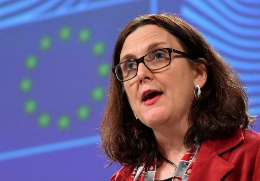"""EU trade minister Cecilia Malmstrom said she w""""ill now get in contact with our American partners with a view to organising a date for the first round as soon as possible"""""""