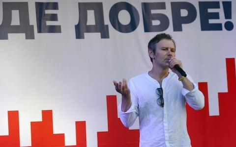 Rock star Svyatoslav Vakarchuk served in Ukraine's parliament once before, quitting after a year - Credit: Ukrinform/Barcroft