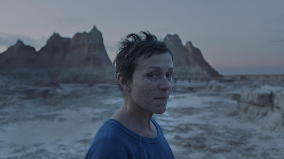 Frances McDormand stars as a woman who lives the RV life on the road after the loss of her husband and town in