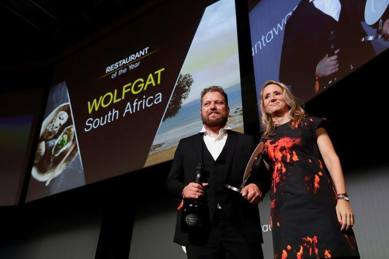 Chef Kobus van der Merwe received the Restaurant of the Year award for his beach restaurant Wolfgat in South Africa during the inaugural World Restaurant Awards in Paris