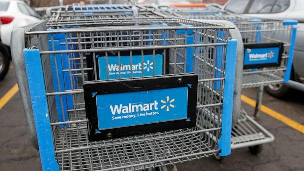 PHOTO: Walmart shopping carts are seen In the parking lot in Chicago, Ill., Nov. 27, 2019. (Kamil Krzaczynski/Reuters, FILE)