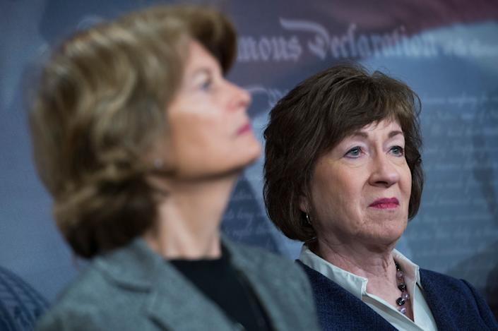 President Trump has put forward some incredibly anti-abortion judicial nominees. Sens. Lisa Murkowski (left) and Susan Collins (right), who support women's reproductive rights, have votedto confirm all of them.