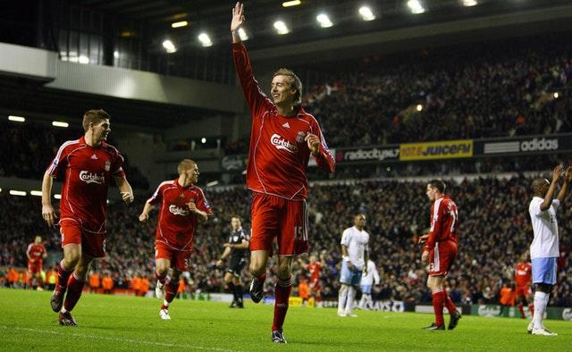 Peter Crouch spent three seasons at Anfield (Pete Byrne/PA)