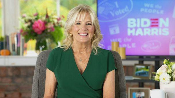 PHOTO: Dr. Jill Biden appears on The View, Oct. 21, 2020. (ABC )