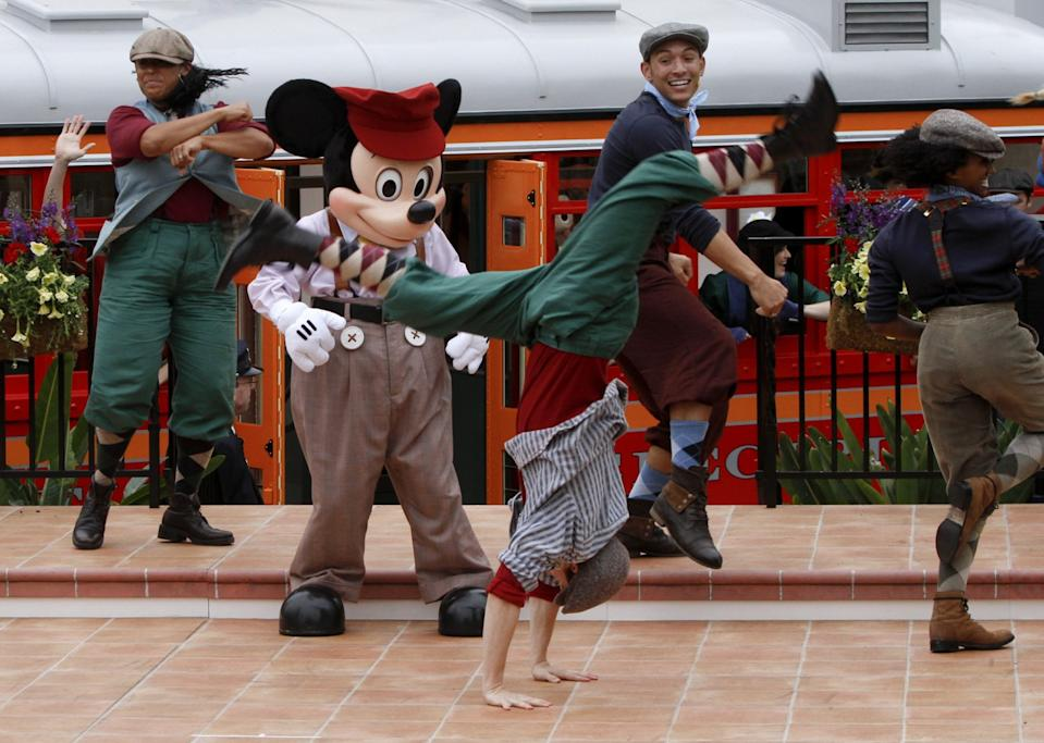 "A ""Newsies""-inspired show used to run in Disney California Adventure."