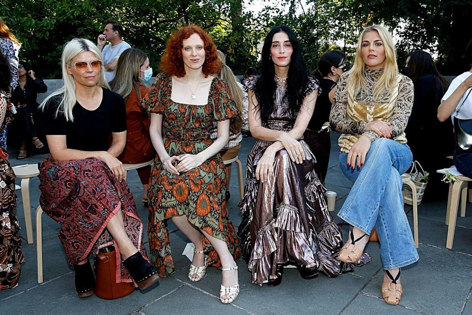 <p>Kate Young, Karen Elson, Sarah Sophie Flicker and Busy Philipps attend the Ulla Johnson front row during New York Fashion Week: The Shows at Brooklyn Botanic Garden.</p>