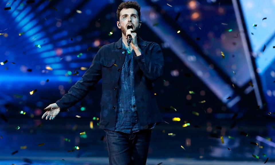 "This year's <em>Eurovision Song Contest </em>was held in Israel and to the surprise of absolutely no one,<a href=""https://uk.news.yahoo.com/uk-act-blames-brexit-for-eurovision-flop-084535436.html"" data-ylk=""slk:the UK came last.;outcm:mb_qualified_link;_E:mb_qualified_link;ct:story;"" class=""link rapid-noclick-resp yahoo-link""> the UK came last.</a> But the camp European romp has an enduring popularity in the country despite our constant misfortune that keeps viewers coming back year after year. This year's competition was won by the Netherlands while Madonna turned up for the half-time performance. (AP Photo/Sebastian Scheiner)"