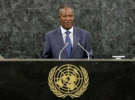 Zambia's President Michael Chilufya Sata addresses the 68th United Nations General Assembly at the UN headquarters in New York, in this September 24,2013 file picture. REUTERS/Justin Lane/Pool/Files