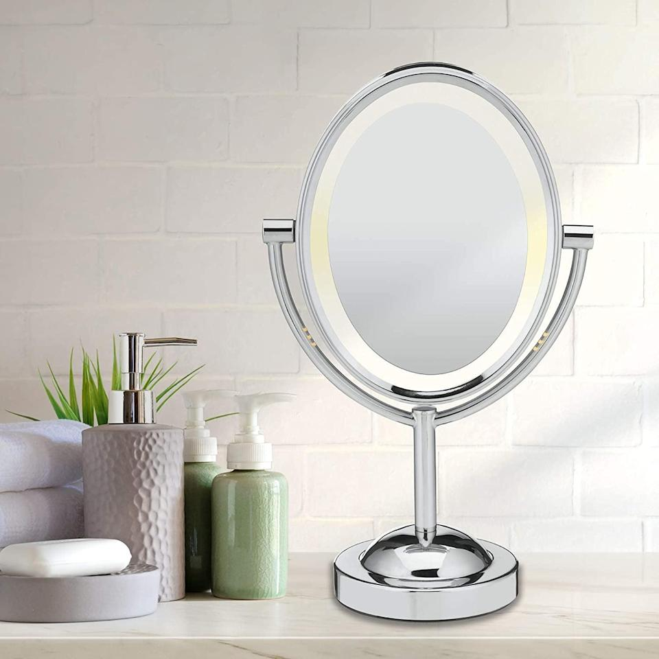 <p><span>Conair Reflections Double-Sided Lighted Vanity Makeup Mirror</span> ($22, originally $44)</p>