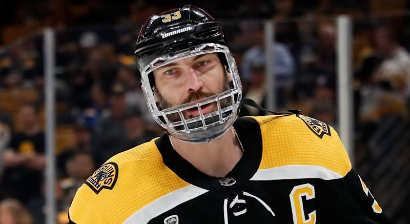 Zdeno Chara didn't say for sure that he'd be in the Boston Bruins' lineup for their opening game. (Winslow Townson-USA TODAY Sports)