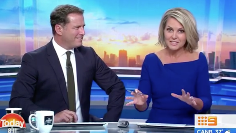 Georgie has hit back at a sexist online troll. Photo: Channel Nine