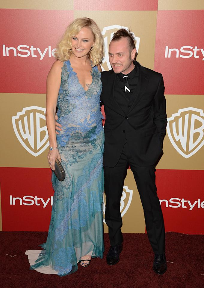 Malin Ackerman and Roberto Zincone attend the 14th Annual Warner Bros. And InStyle Golden Globe Awards After Party held at the Oasis Courtyard at the Beverly Hilton Hotel on January 13, 2013 in Beverly Hills, California.