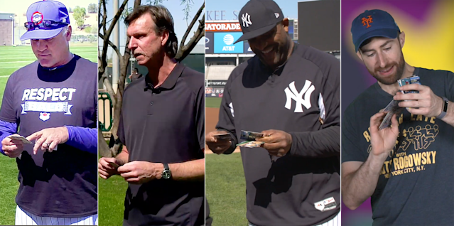 "Ryne Sandberg, Randy Johnson, CC Sabathia and Scott Rogowsky had some of the best pulls in 2018 on ""Old Baseball Cards."" (Yahoo Sports)"