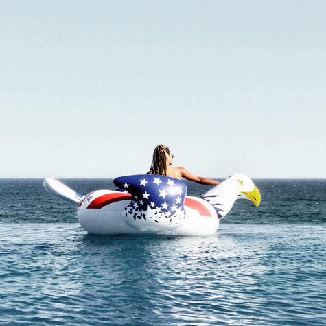 "<p>Yes, there is a bald eagle float — and new mama Ciara rode it proudly. ""#4thOfJuly,"" was the caption. (Photo: <a href=""https://www.instagram.com/p/BWJ4njSheYX/?taken-by=ciara&hl=en"" rel=""nofollow noopener"" target=""_blank"" data-ylk=""slk:Ciara via Instagram"" class=""link rapid-noclick-resp"">Ciara via Instagram</a>)<br><br></p>"