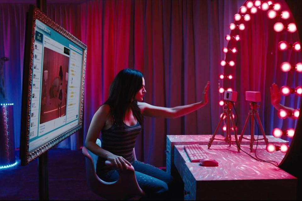 "<p>In this new Netflix psychological horror film set in the world of webcam pornography, Madeline Brewer from <strong>The Handmaid's Tale</strong> stars as an erotic cam girl who finds her popular channel hijacked by a look-alike. What's even better: <strong>Cam</strong> is one of the few films about sex work written by a former sex worker, resulting in a story that doesn't glamorize, glorify, or romanticize the profession.</p> <p><a href=""https://www.netflix.com/title/80177400"" class=""link rapid-noclick-resp"" rel=""nofollow noopener"" target=""_blank"" data-ylk=""slk:Watch Cam on Netflix now"">Watch <strong>Cam</strong> on Netflix now</a>.</p>"