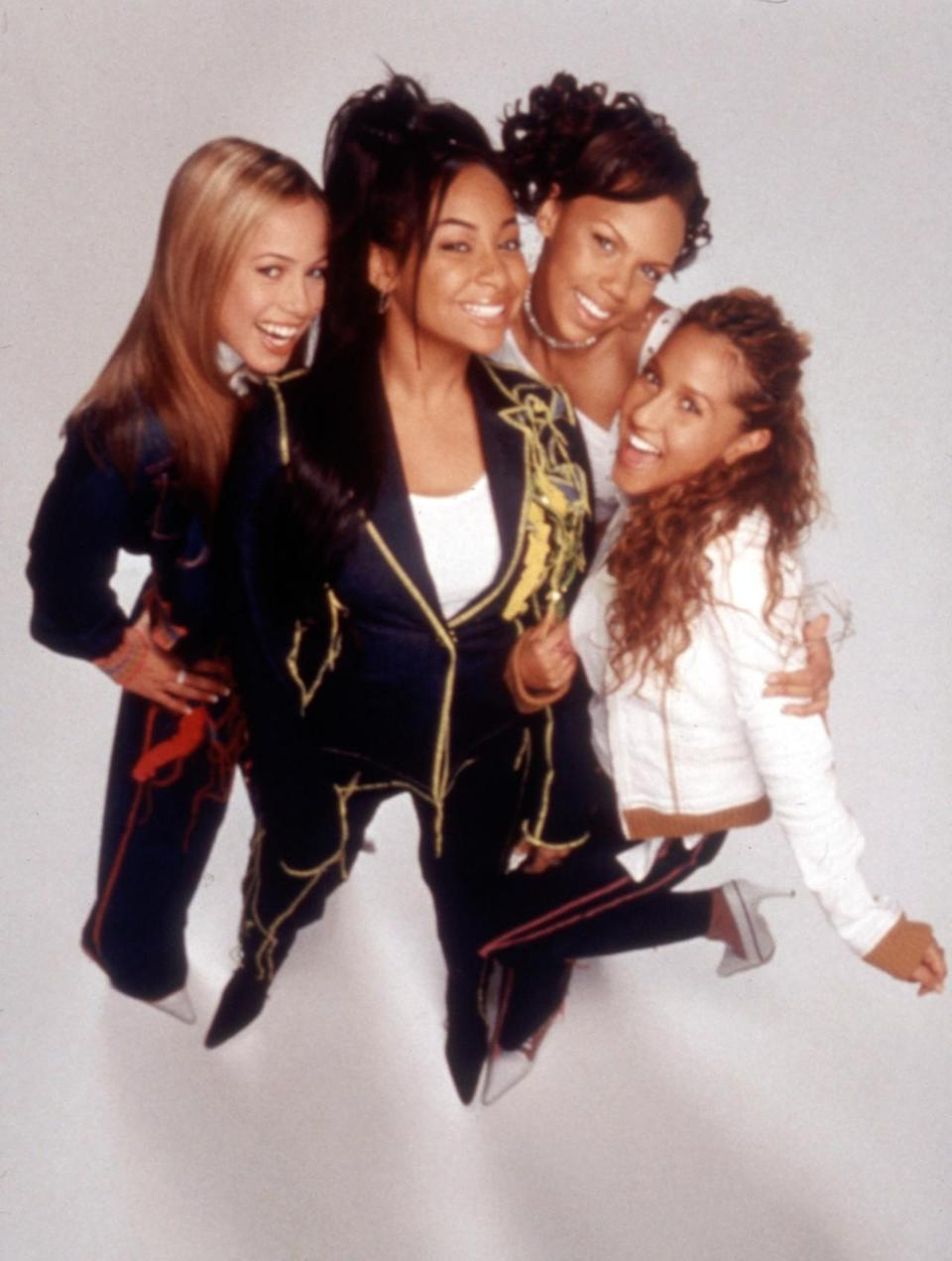 <p>Yes, in the early aughts, even the Disney Channel got into the idea of the girl power group. The musical group Cheetah Girls, which consisted of Adrienne Bailon, Kiely Williams, Sabrina Bryan, and Raven-Symoné had three nationwide tours, sold 3.6 million records, and released three Disney Channel Original Movies. While the actual band was made up of two former members of 3LW and two Disney veterans, the film was about a group of high school BFFs who made it big as pop stars together. Getting famous with your best friends — only on Disney. <i>(Source: Everett Collection)</i></p>