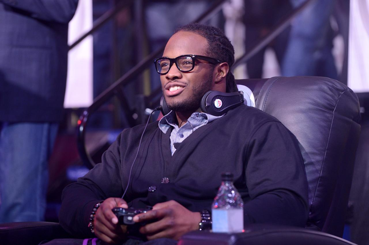 NEW ORLEANS, LA - JANUARY 31:  NFL player Trent Richardson of the Cleveland Browns attends EA SPORTS Madden Bowl XIX at the Bud Light Hotel on January 31, 2013 in New Orleans, Louisiana.  (Photo by Stephen Lovekin/Getty Images for Bud Light)