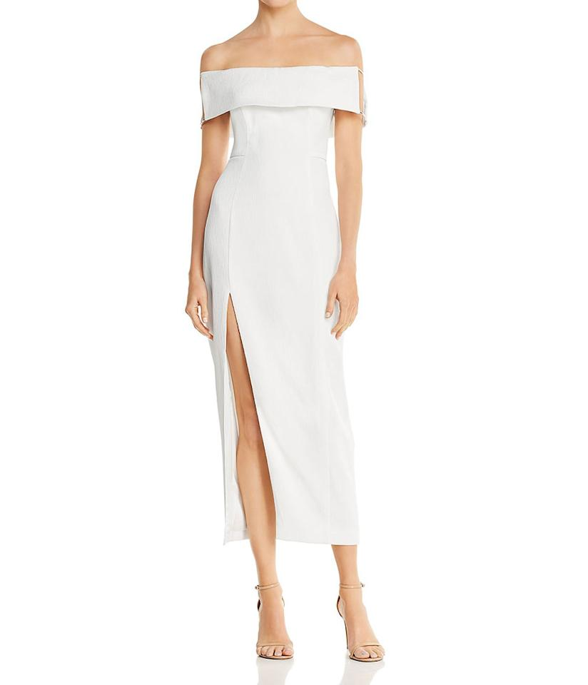 "<p>Lana Off-the-Shoulder Dress, $198,<a rel=""nofollow"" href=""https://www.bloomingdales.com/shop/product/stylestalker-lana-off-the-shoulder-dress?ID=2880002&CategoryID=1018659#fn=ppp%3Dundefined%26sp%3D1%26rId%3D111%26spc%3D216%26spp%3D71%26pn%3D1%7C3%7C71%7C216%26rsid%3Dundefined%26smp%3DmatchNone""> bloomingdales.com</a> </p>"