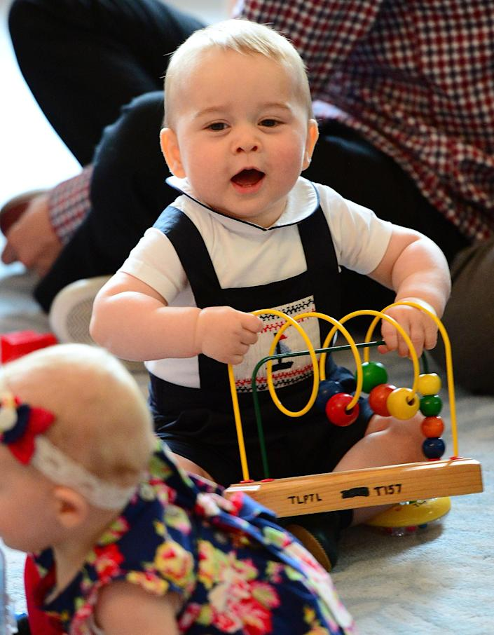 Playing while at an event for nurses and their children in New Zealand. (Getty Images)