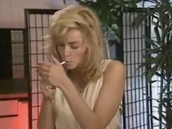 The video shows the blonde bombshell back in her 20s, lighting a cigarette before reciting lines with director Paul Verhoeven. Source: Instagram