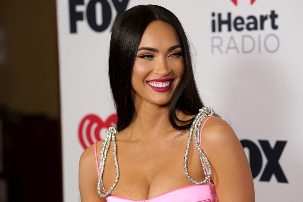 Megan Fox attends the iHeartRadio Music Awards at the Dolby Theatre on Thursday, May 27, 2021, in Los Angeles. (AP Photo/Chris Pizzello)
