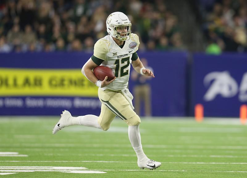 Baylor Bears quarterback Charlie Brewer (12) rushes against the Vanderbilt Commodores in the first quarter in the 2018 Texas Bowl at NRG Stadium. (USA Today)