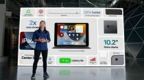 Apple's Melody Kuna talks about the enhanced features of the new iPad during a special event