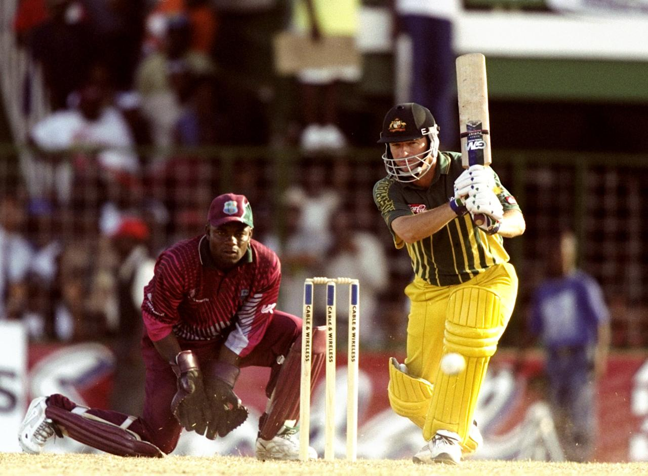 21 Apr 1999:  Steve Waugh of Australia batting during the One Day International match against the West Indies played in Bardados. \ Mandatory Credit: Ben Radford /Allsport